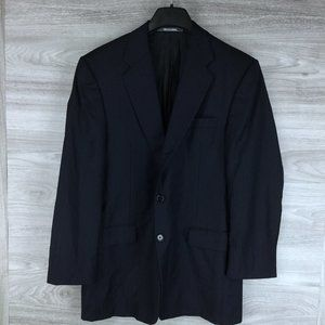 Hickey Freeman Navy Pinstripe Suit Jacket